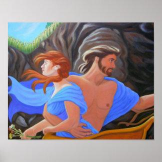 La abducción de Persephone - de Hades y de Perseph Póster