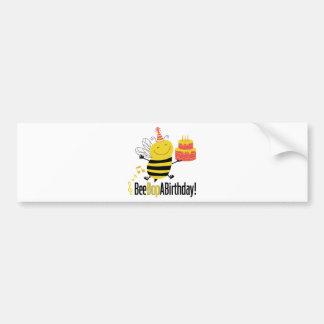 La abeja Bop un cumpleaños Pegatina Para Auto