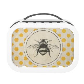 La abeja del vintage en amarillo puntea la