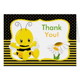 La abeja dulce del bebé le agradece cardar tarjeta de felicitación