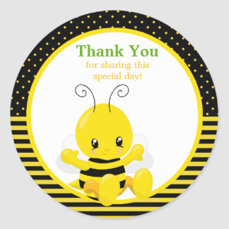 La abeja dulce del bebé le agradece pegatina