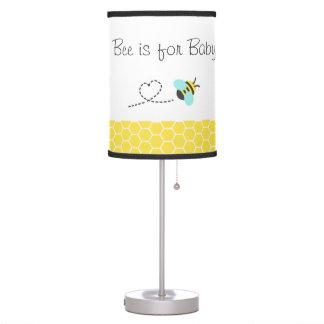 La abeja está para el bebé, lindo manosea la abeja lámpara de mesilla de noche
