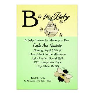 La abeja está para la fiesta de bienvenida al bebé comunicado personal