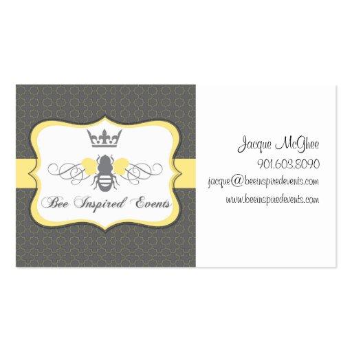 La abeja inspiró la tarjeta de visita de los acont