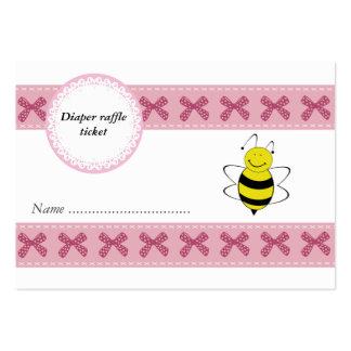 La abeja linda del dibujo animado arquea el boleto tarjetas de visita grandes