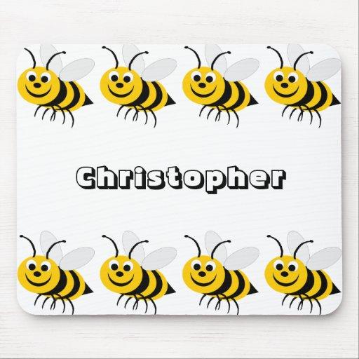 La abeja Mousepad de la miel apenas añade nombre Tapetes De Ratón