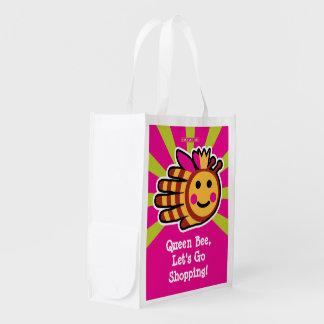 La abeja reina, nos dejó va a hacer compras bolsas para la compra
