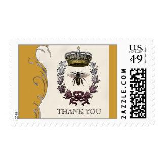 La abeja reina que el boda real le agradece sellos postales