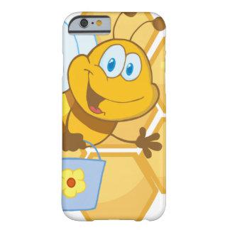 La abeja sonriente sostiene un cubo funda para iPhone 6 barely there