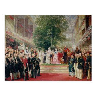 La abertura de la gran exposición, 1851-52 postal