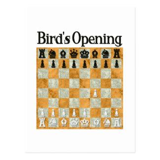 La abertura del pájaro tarjetas postales