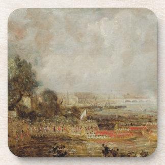 La abertura del puente de Waterloo, c.1829-31 (ace Posavasos