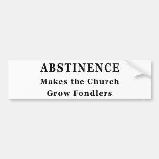 La abstinencia hace Fondlers Etiqueta De Parachoque