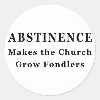 La abstinencia hace Fondlers Pegatinas Redondas