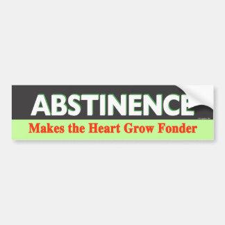 La abstinencia hace que el corazón crece más encar pegatina para auto