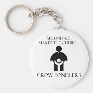 La abstinencia hace que la iglesia crece Fondlers Llavero Redondo Tipo Pin