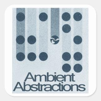 La abstracción ambiente puntea a los pegatinas pegatina cuadrada