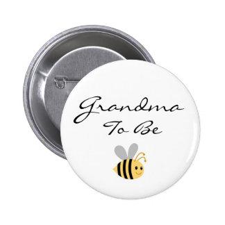 La abuela a ser manosea el Pin de la abeja Pin Redondo 5 Cm
