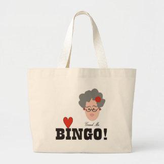 La abuela ama el bolso del bingo bolsas