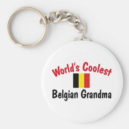 La abuela belga más fresca llavero