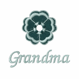 La abuela bordó a señoras relampaga para arriba la sudadera con capucha