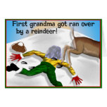 La abuela conseguida corrió encima por una tarjeta