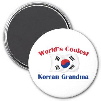 La abuela coreana más fresca imán redondo 7 cm