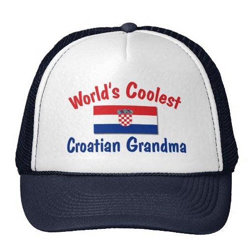 La abuela croata más fresca gorra