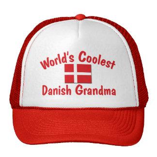 La abuela danesa más fresca gorros bordados
