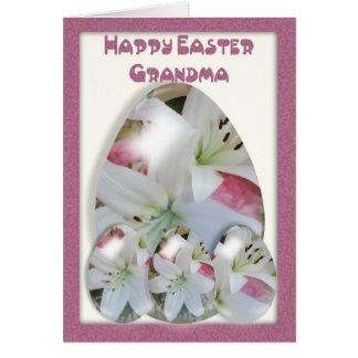 La abuela de la tarjeta de pascua, los huevos de P