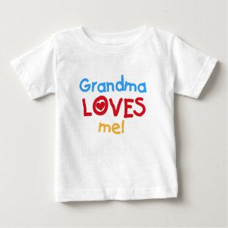 La abuela de los colores primarios me ama las playera para bebé