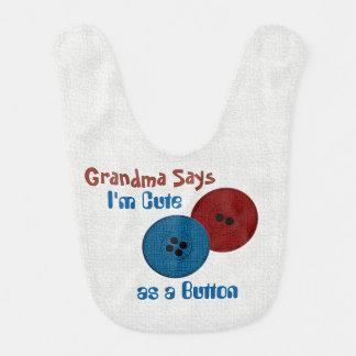 La abuela dice… Botones (personalice) Babero De Bebé