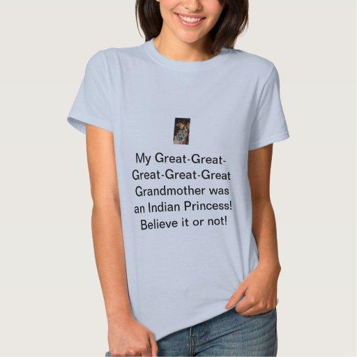 La abuela era princesa india t-shirts