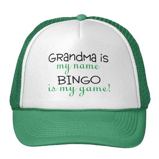 La abuela es mi bingo conocido es mi juego gorros
