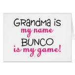 La abuela es mi Bunco conocido es mi juego Felicitación
