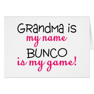 La abuela es mi Bunco conocido es mi juego Tarjeta De Felicitación