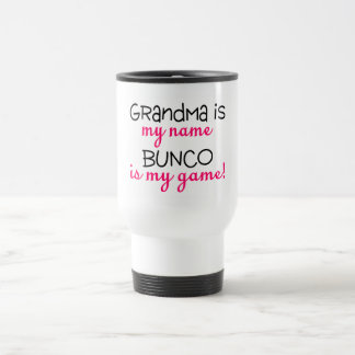 La abuela es mi Bunco conocido es mi juego Taza De Viaje De Acero Inoxidable