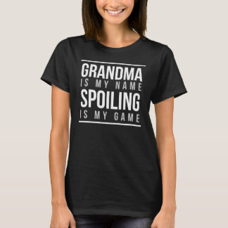 La abuela es mi estropeo del nombre es mi juego playera
