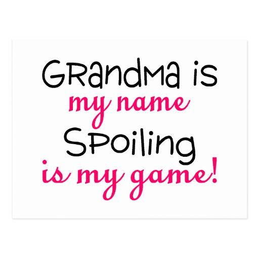 La abuela es mi estropeo del nombre es mi juego postal