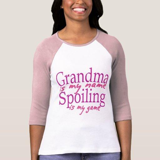 La abuela es mi nombre camisetas