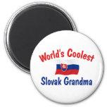 La abuela eslovaca más fresca imán de frigorifico