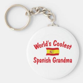 La abuela española más fresca llavero redondo tipo pin