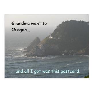 La abuela fue a Oregon… Postal