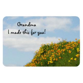 ¡La abuela I hizo esto con usted! Amapola de los m Imanes Flexibles