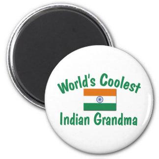 La abuela india más fresca iman de nevera