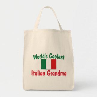 La abuela italiana más fresca bolsa tela para la compra