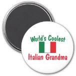 La abuela italiana más fresca iman para frigorífico