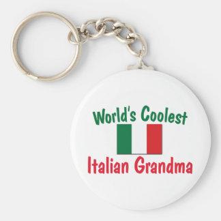 La abuela italiana más fresca llavero redondo tipo pin