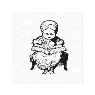 La abuela le leyó un diseño de la historia impresiones en lona estiradas