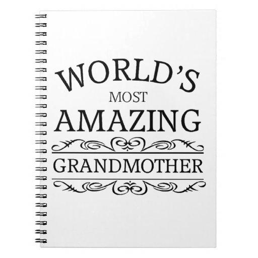 La abuela más asombrosa del mundo libro de apuntes